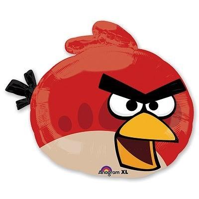 Купить фольгированный шар Angry Birds Красная