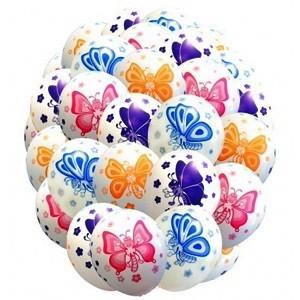 Купить Шары Бабочки Разноцветные