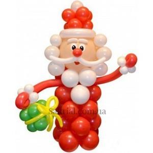 Фигура из шаров Дед Мороз