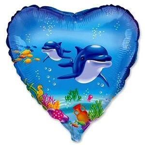 Купить Шарик с Дельфинами в Киеве