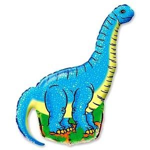 Фольгированный шар Голубой Динозавр