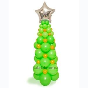 Фигура Елка на Новый год из воздушных шариков