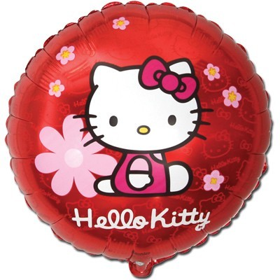 Шарик фольгированный Hello Kitty Цветы