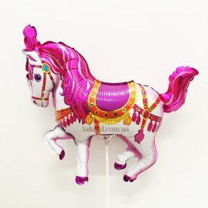 Купить Фольгированный Шарик на Палочке (Лошадка Розовая)