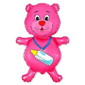 Розовый Мишка Шарик на Выписку