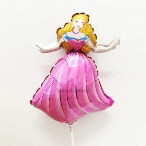 Купить Фольгированный Шарик на Палочке (Принцесса)