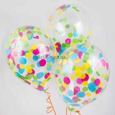 Гелиевый шар разноцветное конфетти