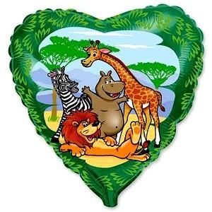 Купить Шар Животные в Джунглях