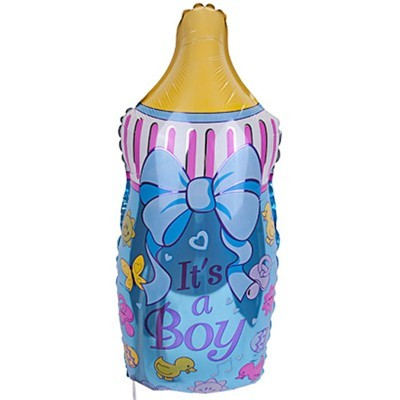 фольгированный шар бутылка синяя для мальчика