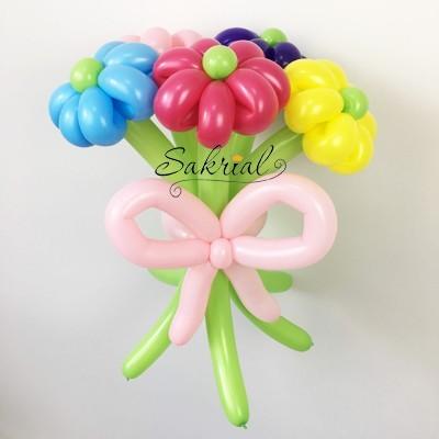 букет цветов из шариков