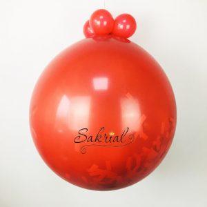 Купить красный шар сюрприз в Киеве