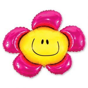 Купить Фольгированный Шарик на Палочке (Цветок Малиновый)