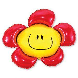 Купить Фольгированный Шарик на Палочке (Цветок Красный)