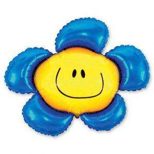 Купить Фольгированный Шарик на Палочке (Цветок Синий)
