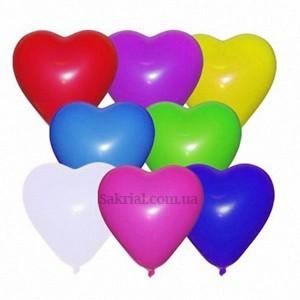 Купить Шары Сердечки Разноцветные