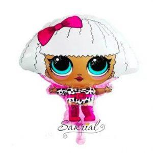 Шар Кукла Лол с Розовым Бантом