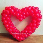 Купить Красное Сердце из Шаров