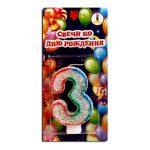 Купить цифру 3 Свечу на День Рождения
