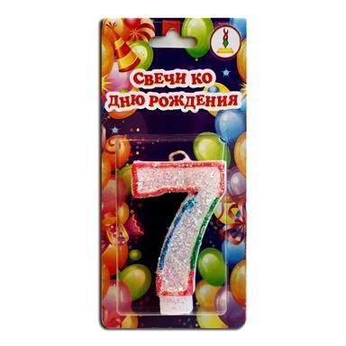 Купить цифру 7 Свечу на День Рождения