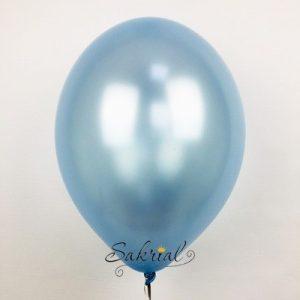 Шары голубого цвета металлик