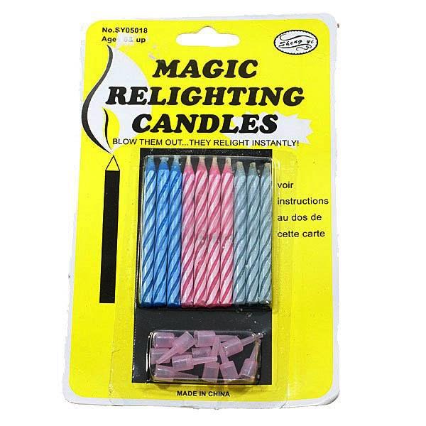 Купить Волшебные незадуваемые свечи для торта