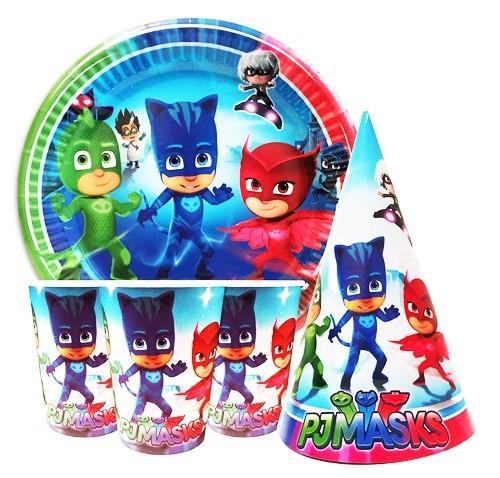 Одноразовая детская посуда герои в масках