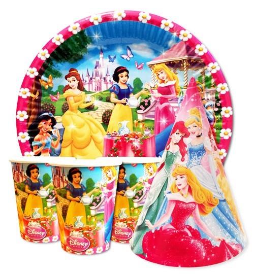 детская одноразовая посуда принцессы