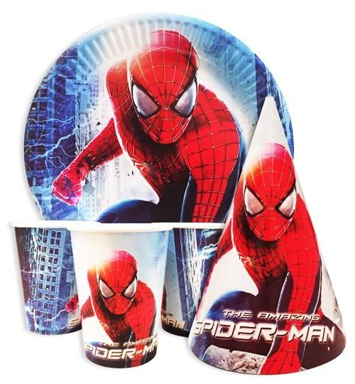 Детская одноразовая посуда человек паук SPIDERMAN