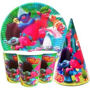 Купить Детскую Одноразовую Посуду (Тролли)