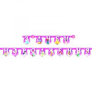 Гирлянда из букв з днем народження принцеси