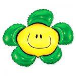 Фольгированный Шарик Цветок Зеленый