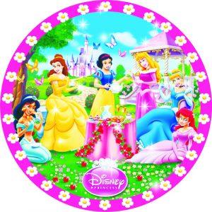 Купить Бумажные Тарелки (Принцессы)