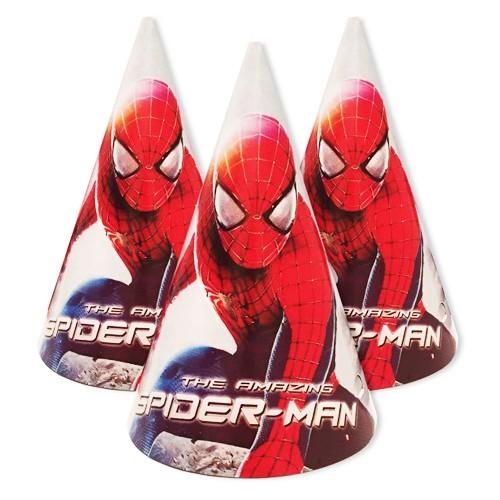 Детские колпачки человек паук на День рождения
