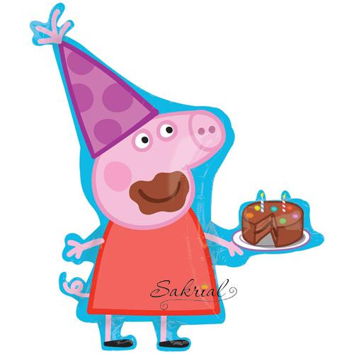 Свинка Пеппа с тортом