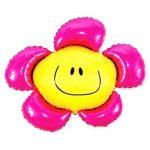 Фольгированный Шар Цветок Розовый