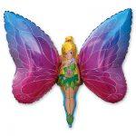 Красивый шарик фея бабочка для девочки