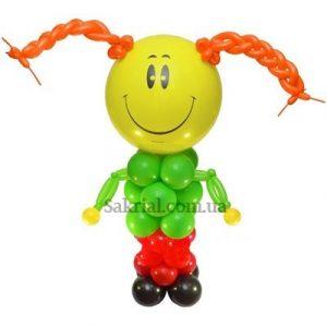 Фигура из шариков девочка с касичками