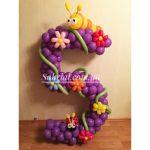 цифра 5 из шаров на день рождения девочки