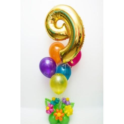 Красивый фонтан из шаров на праздник или день рождения