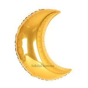 Купить Фольгированный Шар Месяц (Золото)