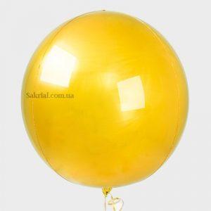 Купить Воздушный Шар 3D Сфера (Золото)
