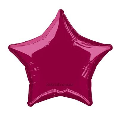 Фольгированная звезда Бургундия