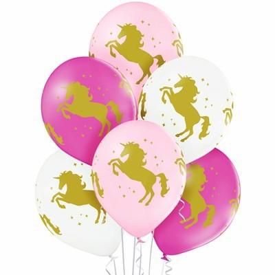 Воздушные шары с единорогами