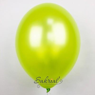 Оригинальный и яркий гелиевый шар металлик зеленое яблоко