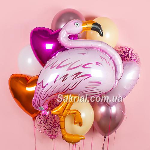Купить Набор Шаров с Фламинго
