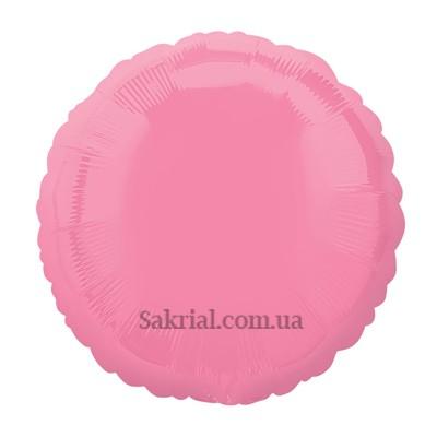 фольгированный шар круг розовый