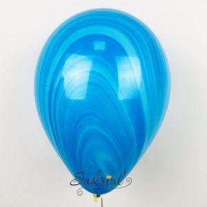 Очень красивый воздушный шар агат голубой
