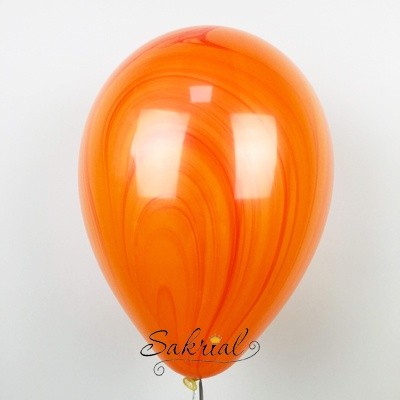 Супер агат гелиевый шар красно орнажевый