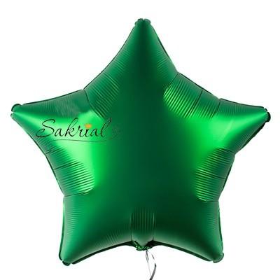 Купить шар Звезду Сатин «Зеленая»