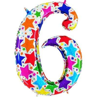 Купить шарик-цифру 6 на День рождения